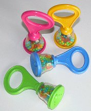 Click for larger photo of Plastic Bell Rattles