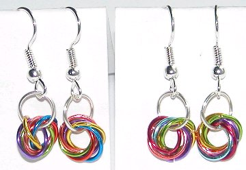 Rainbow Wire Knot Earrings