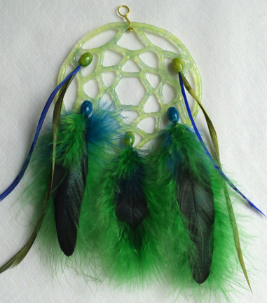 Fused Glass Dream Catchers