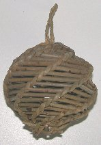 Click for larger photo of the Unpeeled Willow Spiral Hanging Toy