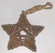Click for larger photo of the Unpeeled Willow Star Hanging Toys