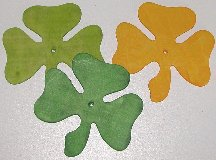 "3"" Soft Wood Shamrocks"